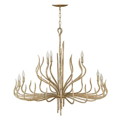 Spyre Two Tier 9-Light Candle-Style Chandelier Finish: Champagne Gold