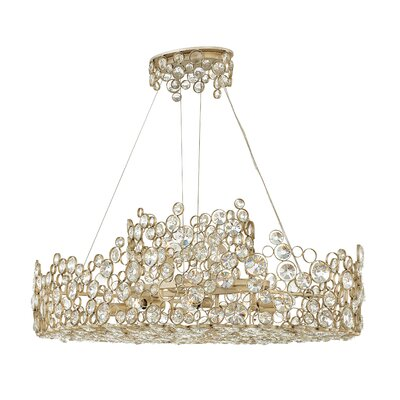 Anya Linear 10-Light Crystal Pendant