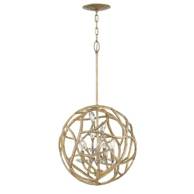 Diandre 3-Light Globe Pendant