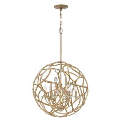 Eve Single Tier 6-Light Globe Pendant
