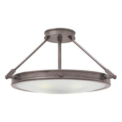 Collier 4-Light Semi Flush Mount Finish: Antique Nickel, Bulb Type: LED