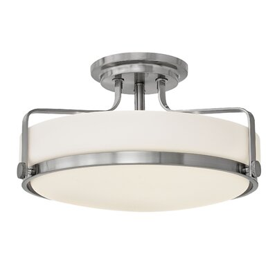 Heliotrope 3-Light Semi Flush Mount Finish: Brushed Nickel, Bulb Type: LED