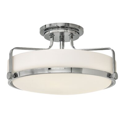 Heliotrope 3-Light Semi Flush Mount Finish: Chrome, Bulb Type: Incandescent