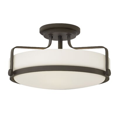 Heliotrope 3-Light Semi Flush Mount Finish: Oil Rubbed Bronze, Bulb Type: LED