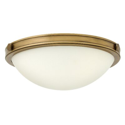 Maxwell 2-Light Flush Mount Finish: Heritage Brass, Bulb Type: LED