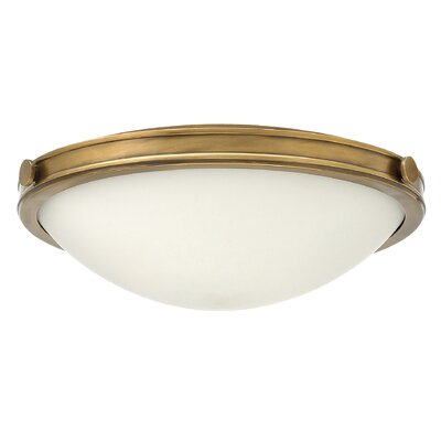 Maxwell 3-Light Flush Mount Finish: Heritage Brass, Bulb Type: Incandescent