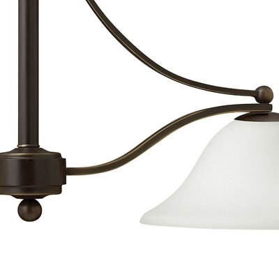 Bolla 2-Light Kitchen Island Pendant Shade Color: Etched Opal Glass