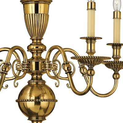 Cambridge 5-Light Candle-Style Chandelier Finish: Burnished Brass