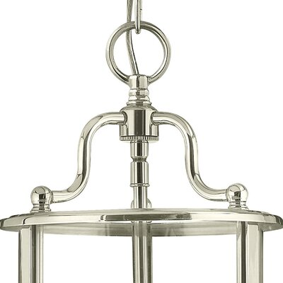 Robles 3-Light Foyer Pendant Finish: Polished Nickel