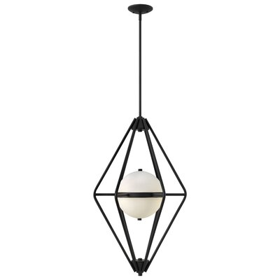 Spectra 2-Light Foyer Pendant Color: Black