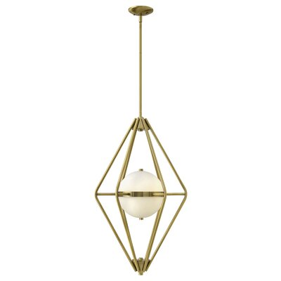 Spectra 2-Light Foyer Pendant Color: Retro Brass