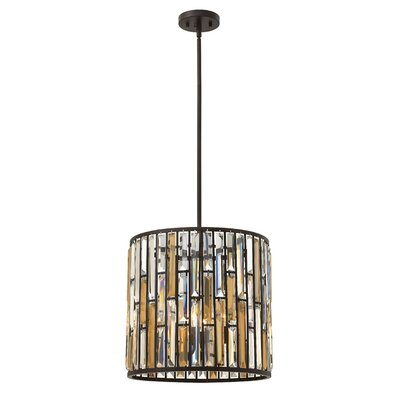 Key 3-Light Drum Pendant Finish: Vintage Bronze