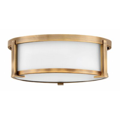 Fahey Foyer 2-Light Flush Mount Fixture Finish: Brushed Bronze, Size: 4.75 H x 13.25 W x 13.25 D