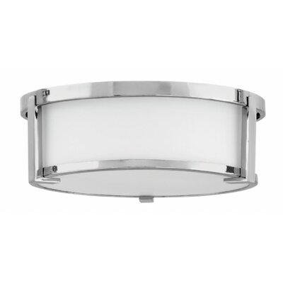 Fahey Foyer 2-Light Flush Mount Fixture Finish: Chrome, Size: 4.75 H x 13.25 W x 13.25 D