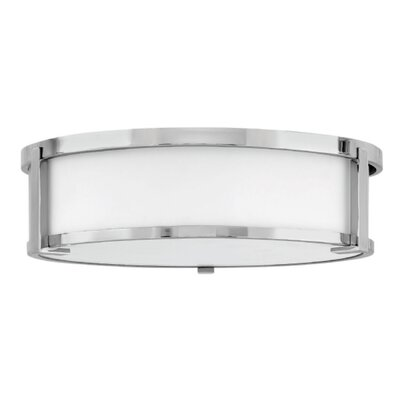 Fahey Foyer 2-Light Flush Mount Fixture Finish: Chrome, Size: 4.75 H x 16 W x 16 D