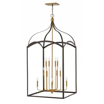Jeremie Three Tier 12-Light Foyer Pendant Finish: Bronze