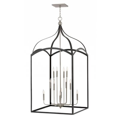 Jeremie Three Tier 12-Light Foyer Pendant Finish: Aged Zinc