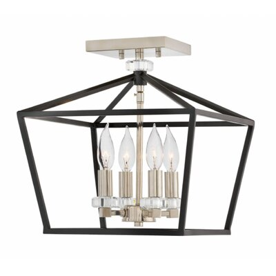 Jean-Baptiste 4-Light Semi Flush Mount