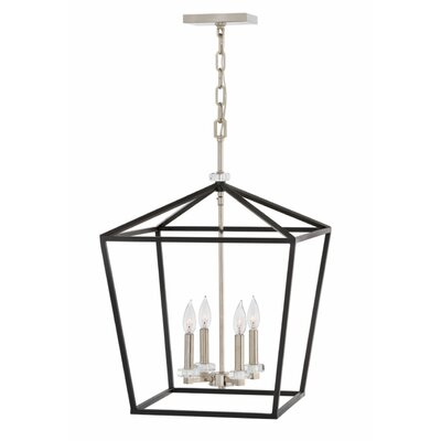 Jean-Baptiste Single Tier 4-Light Foyer Pendant Size: 27.25 H x 18 W x 18 D
