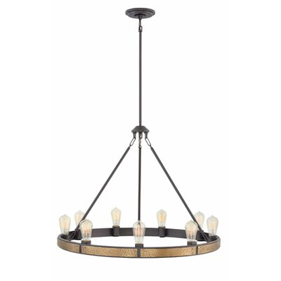 Duell Single Tier 9-Light Candle-Style Chandelier Finish: Bronze