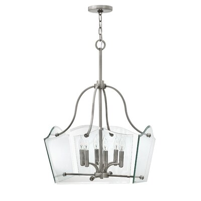 Wingate 6-Light Candle-Style Chandelier Finish: Polished Antique Nickel