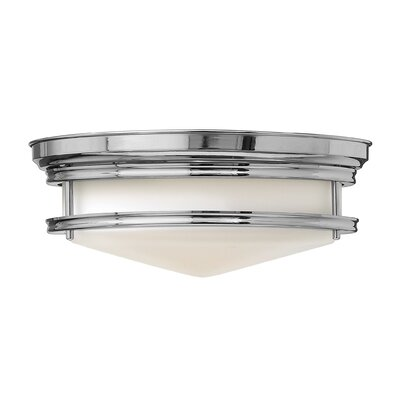 Byford 3-Light Flush Mount Foyer Finish: Chrome, Bulb Type: FSI