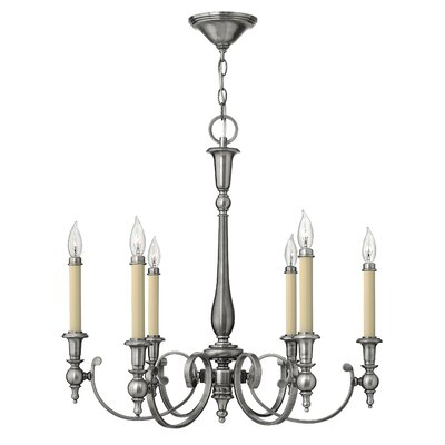 Yorktown 6-Light Candle-Style Chandelier Finish: Brushed Bronze