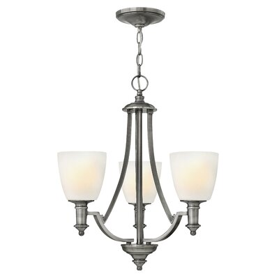 Truman 3-Light Shaded Chandelier