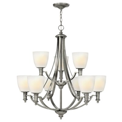 Meadville 9-Light Shaded Chandelier