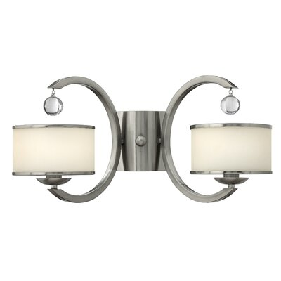 Monaco 2-Light Wall Sconce Finish: Brushed Nickel