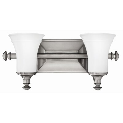 Alice 2-Light Vanity Light Finish: Antique Nickel