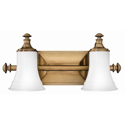 Alice 2-Light Vanity Light Finish: Brushed Bronze