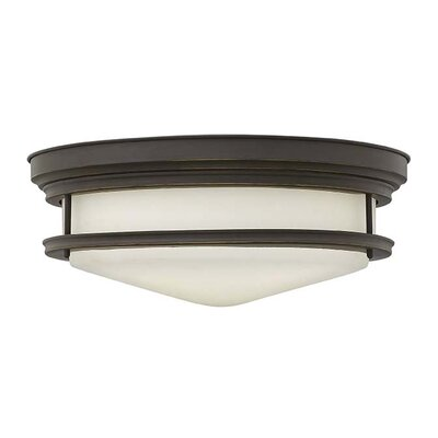 Hadley 4-Light Foyer Flush Mount Finish: Oil Rubbed Bronze, Bulb Type: Incandescent