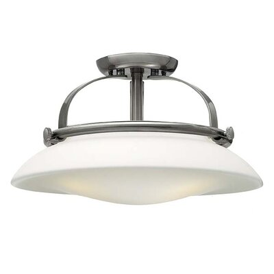 Hutton 3-Light Semi Flush Mount Finish: Polished Nickel