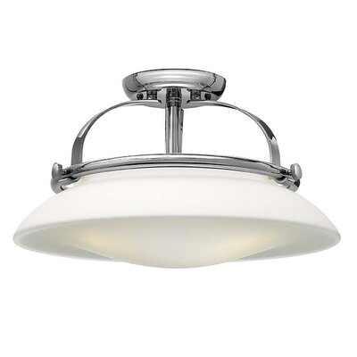 Hutton 3-Light Semi Flush Mount Finish: Chrome