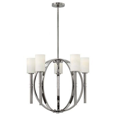 Dana 5-Light Shaded Chandelier Finish: Polished Nickel