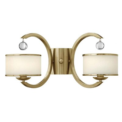 Monaco 2-Light Wall Sconce Finish: Brushed Caramel