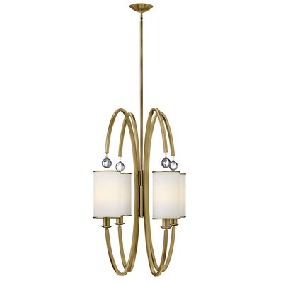 Monaco 4-Light Foyer Pendant Finish: Brushed Caramel