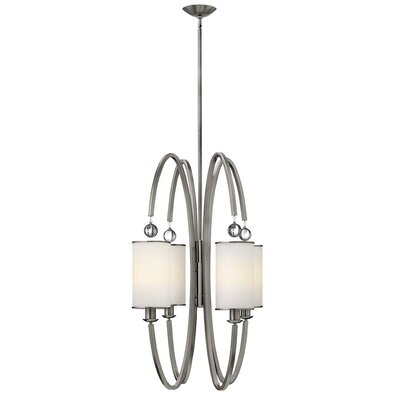Monaco 4-Light Foyer Pendant Finish: Brushed Nickel