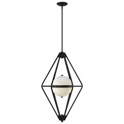 Spectra 2-Light Foyer Pendant Finish: Black