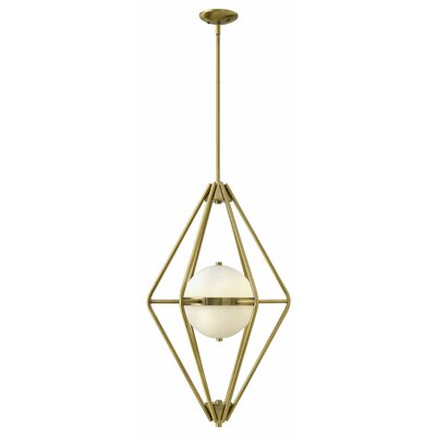 Spectra 2-Light Foyer Pendant Finish: Retro Brass