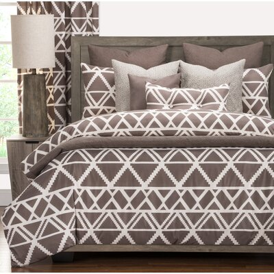 Geo Tribe Luxury Duvet Cover Set Size: Queen