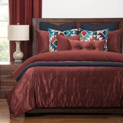 Gateway Luxury Duvet Cover Set Size: King, Color: Brick