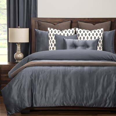 Gateway Luxury Duvet Cover Set Size: King, Color: Denim