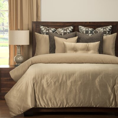 Gateway Luxury Duvet Cover Set Size: King, Color: Wheat
