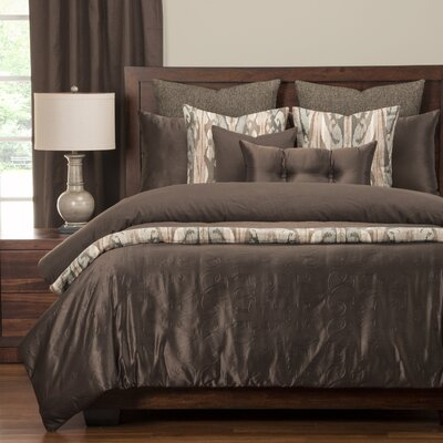 Gateway Luxury Duvet Cover Set Size: Queen, Color: Peppercorn