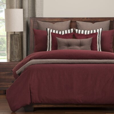 Camelhair Duvet Set Size: Queen, Color: Crimson