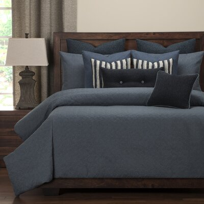 Saddleback Duvet Set Size: King, Color: Blue