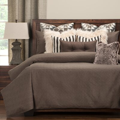 Saddleback Duvet Set Size: Cal King, Color: Brown