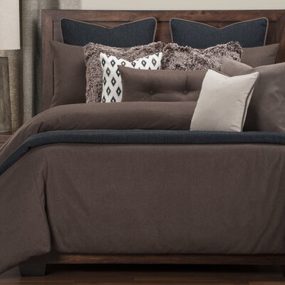 Camelhair Duvet Set Size: Queen, Color: Coffee